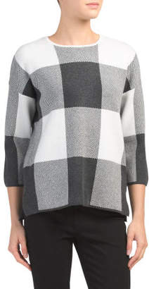 Buffalo Plaid Pullover Sweater