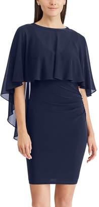 Chaps Women's Sheer Overlay Sheath Dress