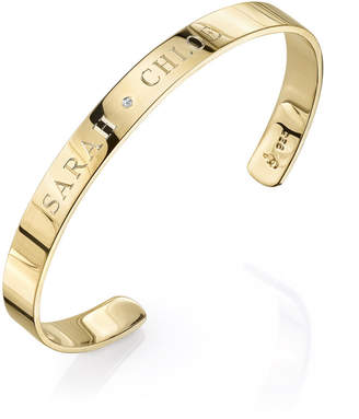 Sarah Chloe Ciela Bangle with Center Diamond Bracelet