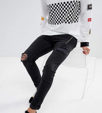 Just Junkies Skinny Jeans With Studs And Zip
