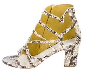 Maison Margiela Embossed Leather Sandals