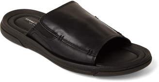 Kenneth Cole Black Yard Leather Slide Sandals