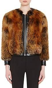 Prada Women's Fox Fur Bomber Jacket - Nero, Natur