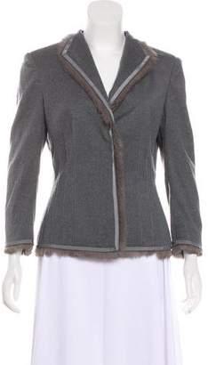 Alexander McQueen Fur-Lined Button-Up Blazer
