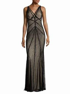 Rachel Gilbert Lucy Embellished V-Back Gown