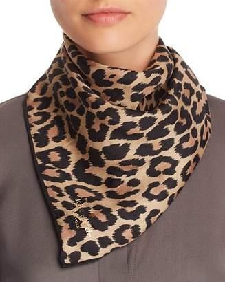 Kate Spade Leopard Print Silk Bandana