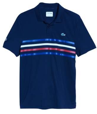 Lacoste Sport Colored Bands Technical Pique Tennis Polo