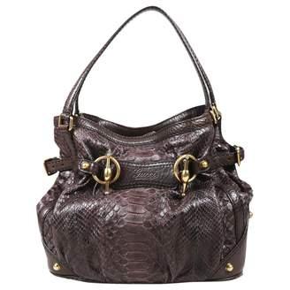 Gucci Brown Water snake Handbag