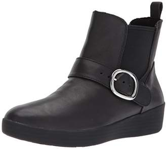FitFlop Women's Superbuckle Leather Chelsea Fashion Boot