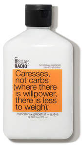 Not Soap Radio Caresses not carbs temptation resistance hand and body lotion