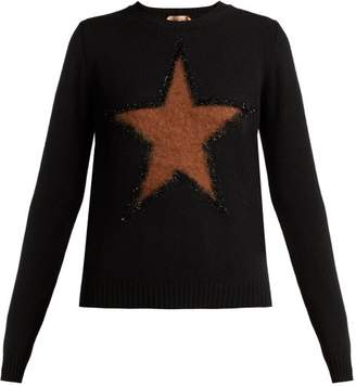 No.21 No. 21 - Star Virgin Wool Sweater - Womens - Black Multi
