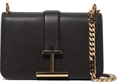 TOM FORD - Tara Textured-leather Shoulder Bag - Black