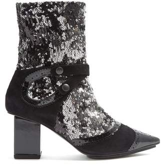 Rue St. - Poland Street Embellished Ankle Boots - Womens - Black Multi