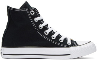 Converse Black & White Classic Chuck Taylor All Star OX High-Top Sneakers $55 thestylecure.com