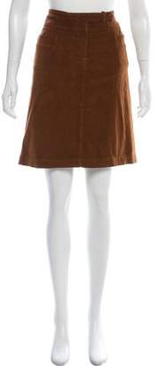CNC Costume National Corduroy Knee-Length Skirt