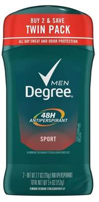 Degree Men Dry Protection Antiperspirant Deodorant Sport Twin Pack - 2.7oz