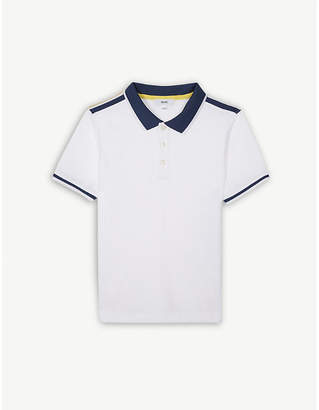 BOSS Contrast logo cotton polo shirt 4-16 years