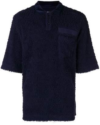Sacai terrycloth polo shirt