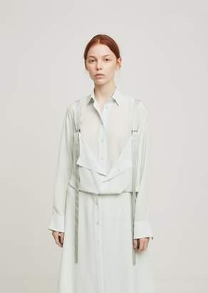 Sies Marjan Loretta Button Front Harness Shirt Mist