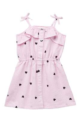 Design History Heart Print Dress (Toddler & Little Girls)