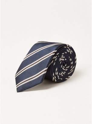 Topman Mens Navy Stripe Tie