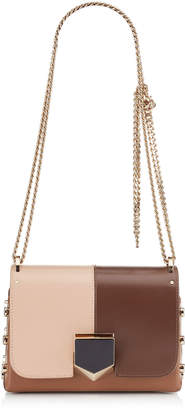 Jimmy Choo LOCKETT PETITE Nude Spazzolato Mix Shoulder Bag