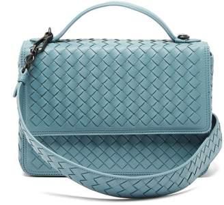 Bottega Veneta Alumna Intrecciato Leather Shoulder Bag - Womens - Light Blue