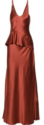 Narciso Rodriguez Silk-charmeuse Peplum Gown