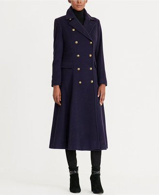 Lauren Ralph Lauren Wool-Cashmere-Blend Military Maxi Coat $420 thestylecure.com