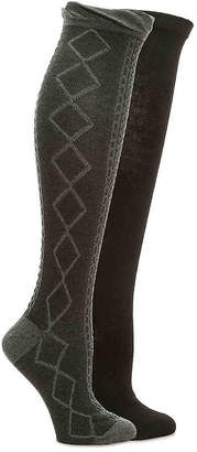Kelly & Katie Cable Ruffle Knee Socks - 2 Pack - Women's