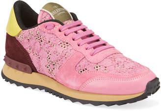 Valentino Garavani Floral Lace Platform Sneakers