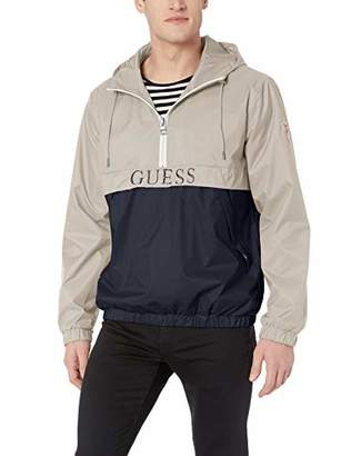 GUESS Men's Popover Windbreaker