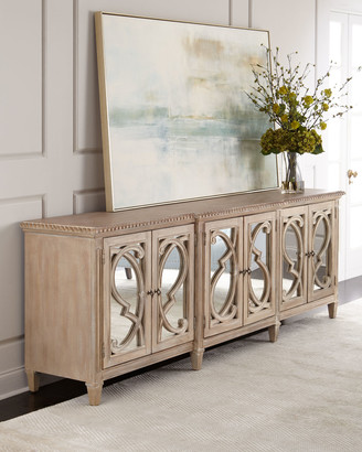 Hooker Furniture Lonnie 6-Door Mirrored Console