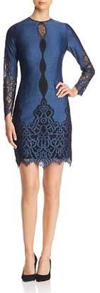 Elie Tahari Pepper Lace Trimmed Dress