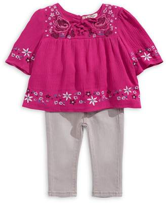 Jessica Simpson Baby Girl's 2-Piece Crinkle Top and Leggings Set