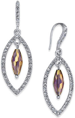 INC International Concepts I.N.C. Silver-Tone Stone & Pavé Orbital Drop Earrings, Created for Macy's