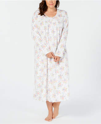 Charter Club Plus Size Printed Fleece Nightgown