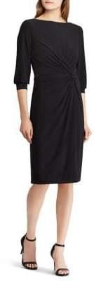 Lauren Ralph Lauren Knotted Jersey Dress