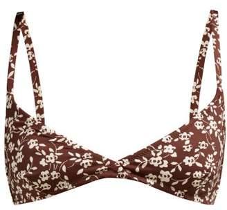 Dodo Bar Or Jenna Floral Print Bikini Top - Womens - Burgundy Print