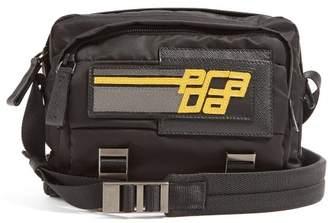 Prada Logo Patch Nylon Cross Body Bag - Mens - Black