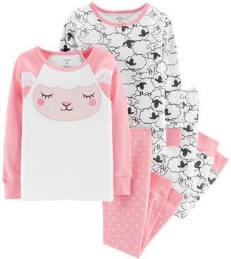 Carter's Toddler Girl Sheep Top & Bottoms Pajama Set