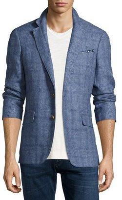 Robert Graham Mundu Plaid Woven Sport Coat, Blue $598 thestylecure.com