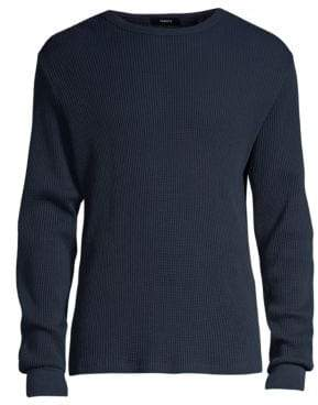 Theory Organic Waffle Long-Sleeve Sweater