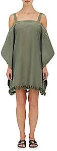 A Peace Treaty WOMEN'S EMBROIDERED COTTON-SILK COVER-UP - SISSALA ARMY GREEN SIZE XS/S