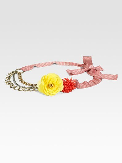 M Missoni Floral Chain Belt