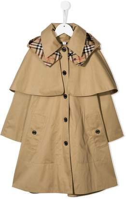 Burberry panelled bethel trench coat