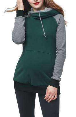 Kimi and Kai Colorblock Maternity Hoodie