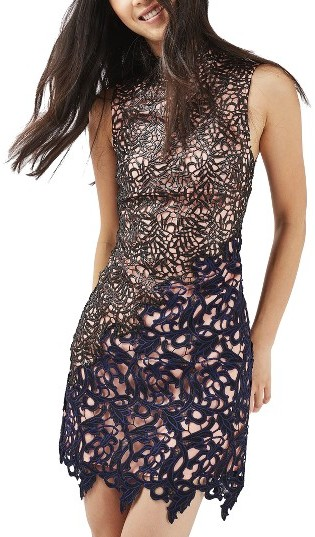 TopshopWomen's Topshop Block Lace Dress