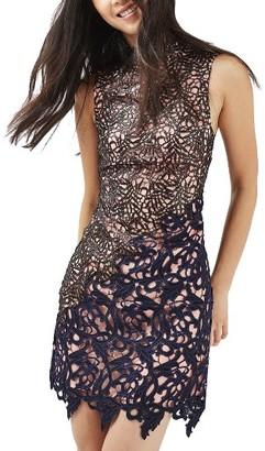 Women's Topshop Block Lace Dress $230 thestylecure.com