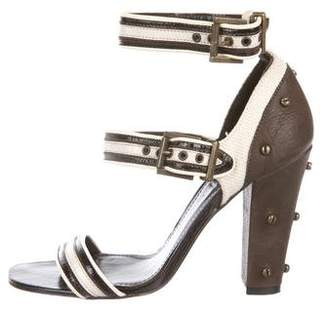 Proenza Schouler Embellished Patent Leather Sandals